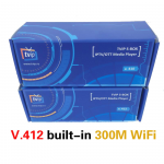 TVIP V412 IPTV BOX, 2,4GHZ WIFI ON BOARD