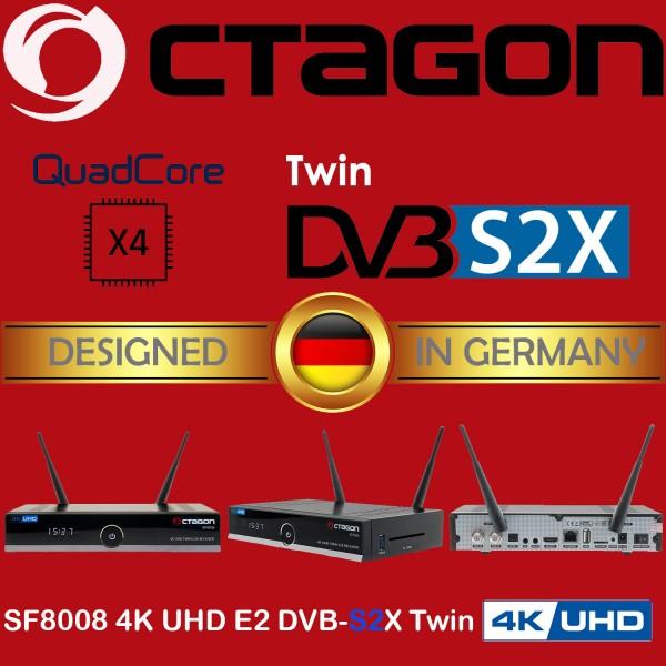 OCTAGON SF8008 4K E2 DVB-S2X&C/T2 Stalker IPTV Multistream