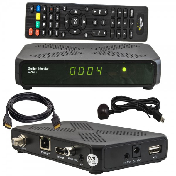 ALPHA X Digital Full HD DVB-S2 H.265 Linux OS Multistream Receiver